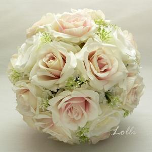 Blush rózsaszín rózsás örökcsokor, menyasszonyi csokor (Lolli) - Meska.hu