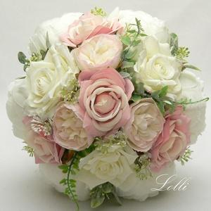 SecretTemptation - Blush örökcsokor, menyasszonyi csokor, Esküvő, Menyasszonyi- és dobócsokor, Különleges dús örökcsokraim fantázia neve a SecretTemptation - Ebben a csokorban 17szál virág van Me..., Meska