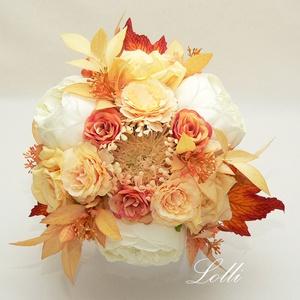 Őszi örökcsokor, menyasszonyi csokor, Esküvő, Menyasszonyi- és dobócsokor, Virágkötés, Meska