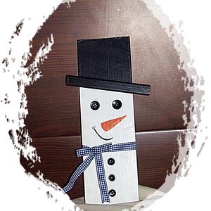 Hóember , karácsonyi táblakép, dísz, Otthon & lakás, Dekoráció, Ünnepi dekoráció, Karácsonyi, adventi apróságok, Festészet, Minden egyes darab kézzel festett akril festékkel. Fára festett, végén matt lakkal kezelt, ha szüks..., Meska