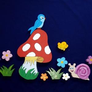 Csillámos-Gyerekszoba dekoráció Kis hercegnőknek, Otthon & lakás, Dekoráció, Dísz, Falmatrica, Kép, Festett tárgyak,  Hercegnőknek!!!!!Színes, vidám, üde gyerekszoba dekoráció! A virágok és a pillangók csillámporral v..., Meska