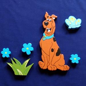 Scooby doo-Gyerekszoba dekoráció, Otthon & lakás, Dekoráció, Dísz, Falmatrica, Kép, Festett tárgyak, Színes, vidám, üde gyerekszoba dekoráció!\nAnyaga 2 cm vastagságú polisztirol. Kétoldalú ragasztószal..., Meska