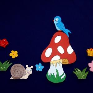 Csiga-Biga-Gyerekszoba dekoráció , Otthon & lakás, Dekoráció, Dísz, Falmatrica, Kép, Festett tárgyak,  Színes, vidám, üde gyerekszoba dekoráció! \nAnyaga 2 cm vastagságú polisztirol. Kétoldalú ragasztósz..., Meska