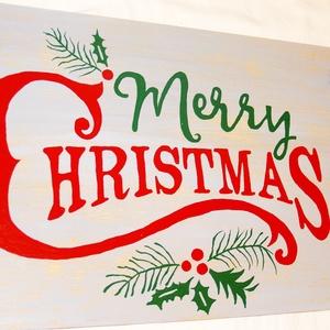 Karácsonyi dekoráció, Karácsony, Karácsonyi lakásdekoráció, Karácsonyi lakásdíszek, Festészet, Meska