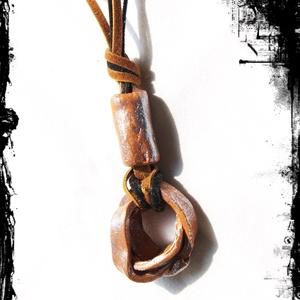 Egyedi , natúr kerámia ékszer- nyaklánc Akció! 2 db áráért 3 db  , Ékszer, Nyaklánc, Medálos nyaklánc, Kerámia, Meska