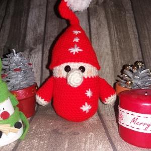 Horgolt karácsonyi manó (Lorafashion) - Meska.hu