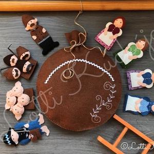 A kis gömböc (Magyar népmesék) ujjbáb készlet, Gyerek & játék, Játék, Báb, Készségfejlesztő játék, Baba-és bábkészítés, Hímzés, Gyermekkorom egyik legkedvesebb meséje A kis gömböc, melyet még ma is sok kisgyermek szeret.\nPedagóg..., Meska