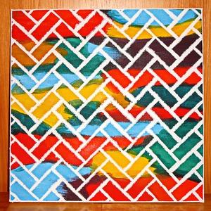 SZÍNES VÁSZON / FALI KÉP, Lakberendezés, Otthon & lakás, Képzőművészet, Vegyes technika, Falikép, Festett tárgyak, Feszített vászon az alap, színes akrilfestékkel festve és megbolondítva egy kis perspektivizmussal.\n..., Meska
