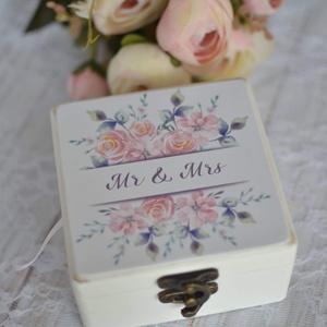 ÚJ!!! 2020-as gyűrűtartó doboz esküvőre, eljegyzésre, Esküvő, Gyűrűtartó & Gyűrűpárna, Kiegészítők, Ha nem szeretnéd az esküvődre az unalmas gyűrűpárnát választani, jó helyen jársz :)  Egyedi, másik e..., Meska