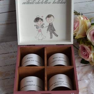 Lánybúcsú/esküvői ajándék doboz - A házasság nélkülözhetetlen kellékei (Lovelydecor16) - Meska.hu