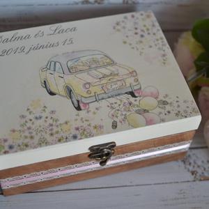 Lánybúcsú/esküvői ajándék doboz - A házasság nélkülözhetetlen kellékei - 6 fakkos (Lovelydecor16) - Meska.hu