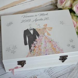 Lánybúcsú/esküvői ajándék doboz - A házasság nélkülözhetetlen kellékei - 12 fakkos, Esküvő, Nászajándék, Emlék & Ajándék, A házasság nélkülözhetetlen kellékei doboz igazán szuper ajándék lehet lánybúcsúra, vagy esküvőre eg..., Meska