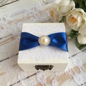 ÚJ!!! Gyűrűtartó doboz esküvőre, eljegyzésre kocka alakú - gyűrűpárna, Esküvő, Kiegészítők, Gyűrűtartó & Gyűrűpárna, Ha nem szeretnéd az esküvődre az unalmas gyűrűpárnát választani, jó helyen jársz :)  Egyedi, másik e..., Meska