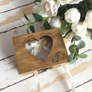 ÚJ!!! 2020-as gyűrűtartó doboz esküvőre, eljegyzésre - gyűrűpárna, Esküvő, Gyűrűtartó & Gyűrűpárna, Kiegészítők, Ha nem szeretnéd az esküvődre az unalmas gyűrűpárnát választani, jó helyen jársz :)  Egyedi, másik e..., Meska