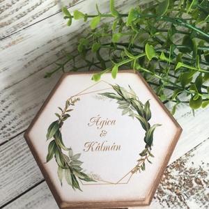 ÚJ!!! Gyűrűtartó doboz esküvőre, eljegyzésre, Esküvő, Ékszer, Eljegyzési gyűrű,  Ha nem szeretnéd az esküvődre az unalmas gyűrűpárnát választani, jó helyen jársz :)  Egyedi, másik ..., Meska