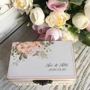 ÚJ!!! Gyűrűtartó doboz esküvőre, eljegyzésre téglalap alakú - gyűrűpárna, Esküvő, Gyűrűtartó & Gyűrűpárna, Kiegészítők, Ha nem szeretnéd az esküvődre az unalmas gyűrűpárnát választani, jó helyen jársz :)  Egyedi, másik e..., Meska