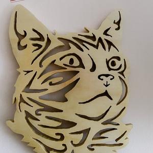 A fürkésző macska , Otthon & Lakás, Dekoráció, Dísztárgy, Famegmunkálás, Préselt falapból vágott cica mely minden macska  kedvelőnek kötelező darab. \nA kivágás végeztével fé..., Meska