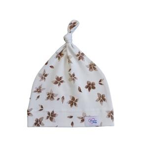 Barna virágos baba sapka, Ruha & Divat, Babaruha & Gyerekruha, Babasapka, Varrás, Barna virágos baba sapka\n\nA baba sapka egyrétegű, puha, rugalmas pamutjersey anyagból készült. \nTöké..., Meska