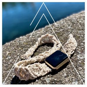 ~ t e c h y ~ Apple watch szíj, Fonott & Szövött karkötő, Karkötő, Ékszer, Csomózás, t e c h y\n~ mutasd az időt ~\n\n3,5 mm-es újrahasznosított szövött zsinórfonalból, makramé technikával..., Meska