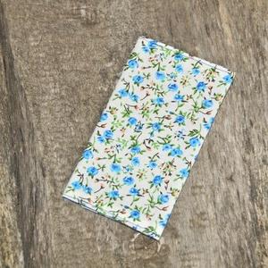 Papírzsebkendő tartó, Táska & Tok, Neszesszer, Varrás, 10 db papírzsebkendő fér bele.\nKék és fehér belsővel is elérhető.\n\nTisztítása: Mosógépben és kézzel ..., Meska