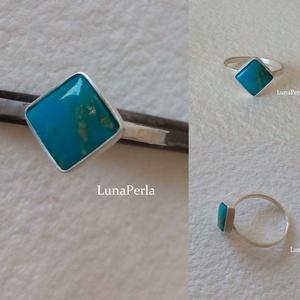 Ezüst gyűrű türkizzel (lunaperla) - Meska.hu