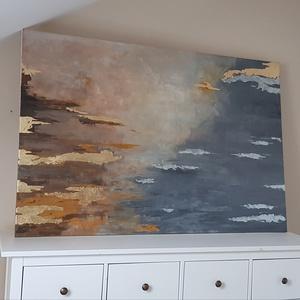 Fustfóliás akril festmény, Akril, Festmény, Művészet, Festészet, Akril festmény füstfóliával. Mérete 100x 150cm-es, Meska