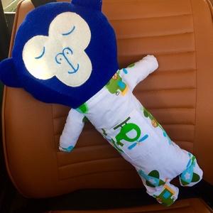Biztonsági öv párna - maki, Játék & Gyerek, Plüssállat & Játékfigura, Majom, Hímzés, Varrás, Ez a kedves kis puha állatka kényelmessé teszi az utazást a gyerekek számára. A legjobb útitárs az ú..., Meska