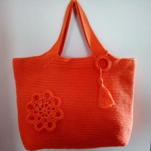 Narancs színű horgolt táska (Macika66) - Meska.hu