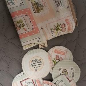 Kozmetikai korong/arctisztító korong szett tároló táskával (Macka) - Meska.hu