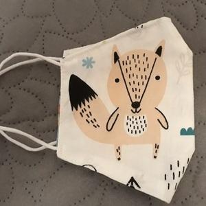 Rókás-nyulas arcmaszk - többször használatos - két réteg tiszta pamut anyagból készült  (Macka) - Meska.hu