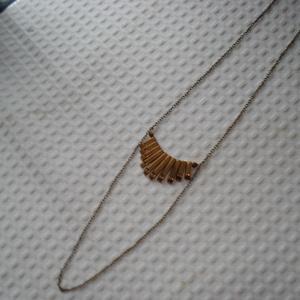 Arany hasábok -  nyaklánc (madaikati) - Meska.hu