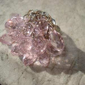 NO POSTA! A legszebb rózsaszín - csiszolt üvegkristályos gyűrű (madaikati) - Meska.hu