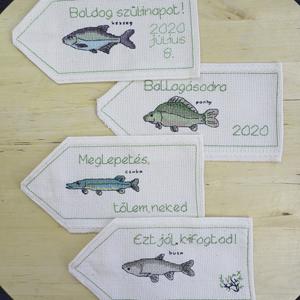Halak alkalomra, Gyerek & játék, Gyerekszoba, Férfiaknak, Horgászat, vadászat, Hímzés, Nincs szebb állat, mint a...hal! \n\nIgen, végre elérhetőek a halas mintás hiánypótló termékek! A pont..., Meska