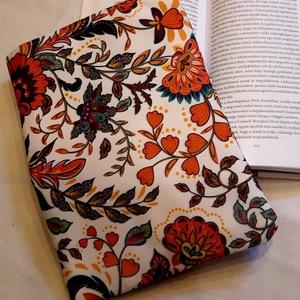 Virágos ölelhető könyvtok, Otthon & lakás, NoWaste, Táska, Divat & Szépség, Te is könyvmoly vagy és félted a könyveidet? Neked is fáj a szíved, mikor cipekedés során a könyvbor..., Meska