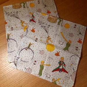 Kisherceges textil zsebkendő szett, Ruha & Divat, Sál, Sapka, Kendő, Kendő, Varrás, \nTextil zsebkendő - öko zsebkendő  kisherceges \n\nFinom pamutvászonból készült zsebkendő szett, mely ..., Meska