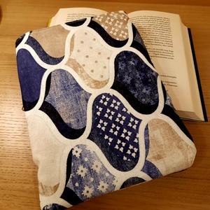 Mozaikos könyvtok (kék-beige), Otthon & Lakás, Papír írószer, Varrás, Meska