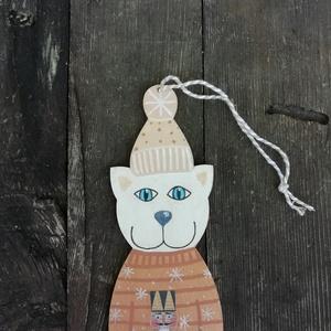 Diótörős cica karácsonyfadísz bronz (MadeinDia) - Meska.hu
