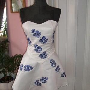 510164934e ... Menyasszonyi Kalocsai hímzett menyasszonyi, alkalmi ruha, ekrü szinű,  Esküvő, Ruha, divat,