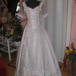 Menyasszonyi ruha, népművészeti, magyaros, hímzett., Esküvő, Hímzés, Varrás, Meska