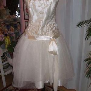 Menyasszonyi, alkalmi, báli ruha, elegáns., Alkalmi ruha & Estélyi ruha, Női ruha, Ruha & Divat, Varrás, Saját, egyedi tervezésű menyasszonyi, alkalmi, báli ruhát kínálok. Anyaga selyem, tüll, csipke. Hátá..., Meska