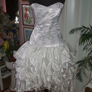 Menyasszonyi, báli, táncruha, füzős, selyem, Esküvő, Varrás, Meska
