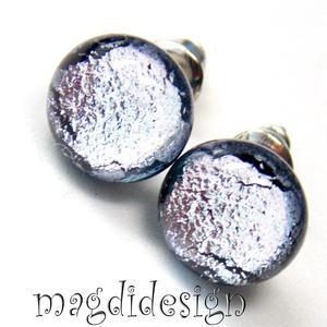 Ezüst eső üvegékszer pötty  fülbevaló  (magdidesign) - Meska.hu