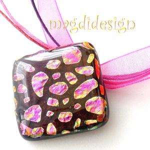 Arany-pink meteorok üvegékszer nyaklánc (magdidesign) - Meska.hu