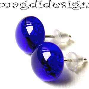 Csodás kék üvegékszer pötty fülbevaló, Pötty fülbevaló, Fülbevaló, Ékszer, Ékszerkészítés, Üvegművészet, AKCIÓ! HÁRMAT FIZET NÉGYET VIHET!! HÁROM ÉKSZERSZETT VÁSÁRLÁSA UTÁN EGY SZETTET AJÁNDÉKBA KÜLDÖK.  Á..., Meska