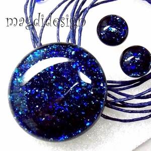 Kék aventurin csillogás üvegékszer szett, nyaklánc, pötty fülbevaló, Ékszer, Medál, Táska, Divat & Szépség, Egyéb, Ékszerkészítés, Üvegművészet, Óriási választék boltomban aventurin szettekből!!! Csillogó, kék aventurin üveg felhasználásával kés..., Meska