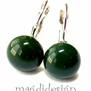 Smaragdzöld üvegékszer kapcsos fülbevaló, Ékszer, Fülbevaló, Táska, Divat & Szépség, Gyerek & játék, Ékszerkészítés, Üvegművészet, Óriási választék kapcsos és stiftes fülbevalókból boltomban! Smaragdzöld ékszerüveg felhasználásával..., Meska