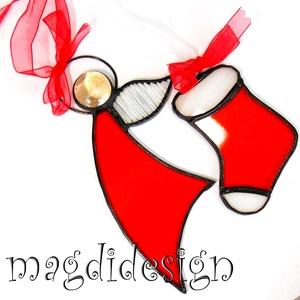Piros angyalka és kis csizma, Karácsony & Mikulás, Karácsonyi dekoráció, Üvegművészet, Fémmegmunkálás, AKCIÓ! HÁRMAT FIZET NÉGYET VIHET!! HÁROM ÉKSZERSZETT VÁSÁRLÁSA UTÁN EGY SZETTET AJÁNDÉKBA KÜLDÖK. Ti..., Meska
