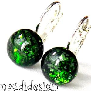 Zöldcsillám üvegékszer kapcsos fülbevaló , Ékszer, Fülbevaló, Ékszerkészítés, Üvegművészet, Óriási színválaszték kapcsos és stiftes fülbevalókból boltomban!!!  Zöld aventurin  ékszerüveg felha..., Meska