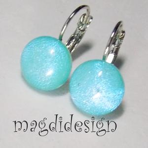 Csillogó kék dichroic üvegékszer kapcsos fülbevaló , Ékszer, Fülbevaló, Táska, Divat & Szépség, Ékszerkészítés, Üvegművészet, Óriási színválaszték kapcsos és stiftes fülbevalókból boltomban!!!  Selymesen csillogó kék dichroic ..., Meska