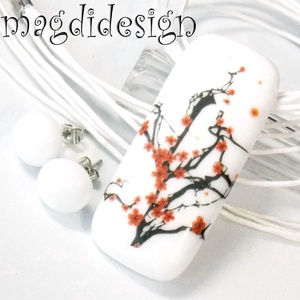 Japán cseresznye virágzás 1 üvegékszer szett, nyaklánc, stiftes fülbevaló, Ékszer, Ékszerszett, Ékszerkészítés, Üvegművészet, AKCIÓ! HÁRMAT FIZET NÉGYET VIHET!! HÁROM ÉKSZERSZETT VÁSÁRLÁSA UTÁN EGY SZETTET AJÁNDÉKBA KÜLDÖK. Eg..., Meska